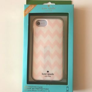 NEW Kate Spade IPhone 7/ 6 / 6s Pink Chevron Case